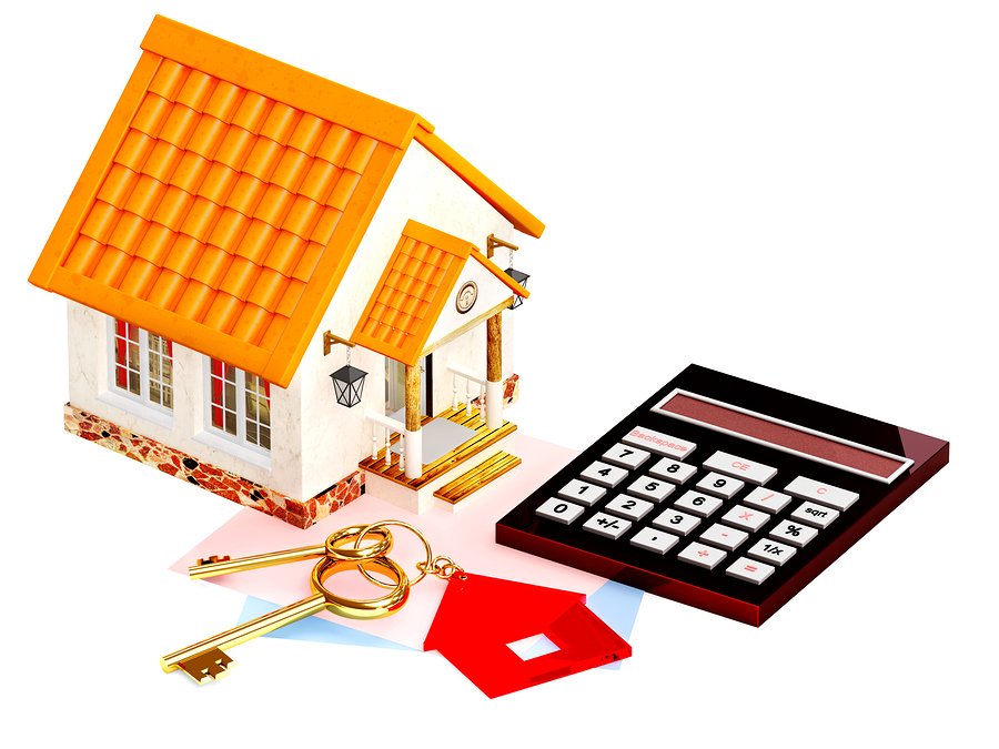 bigstock-Two-gold-keys-house-and-calcu-30120224